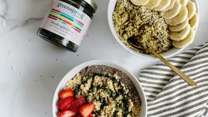 Superfood Fresh Spirulina Oatmeal- 2 Ways