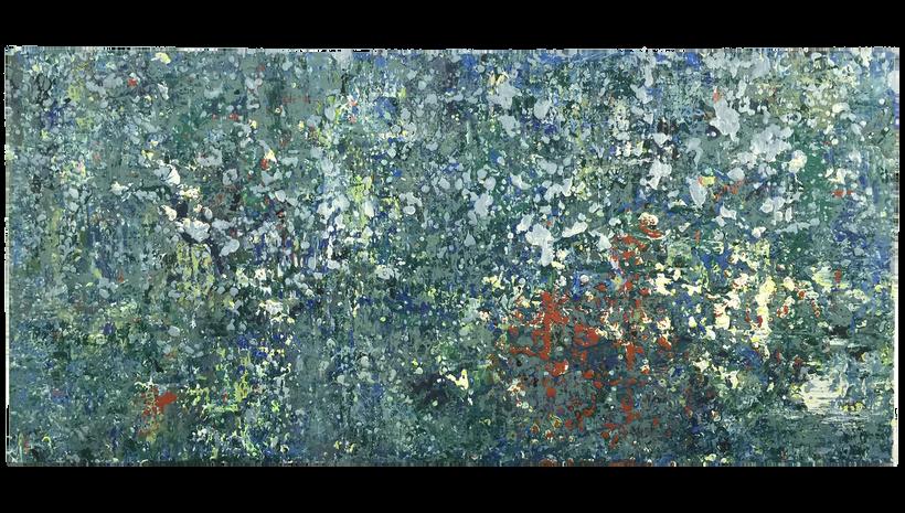 """SHALLOW END, 2016, Acrylic on canvas, 48"""" X 36"""""""