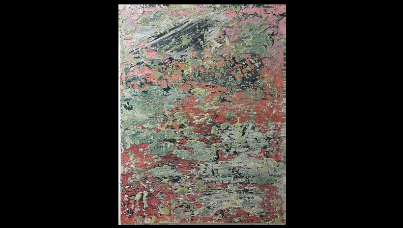 """AUTUMN CRUST, 2016, Acrylic and caulking on canvas, 48"""" X 36"""""""