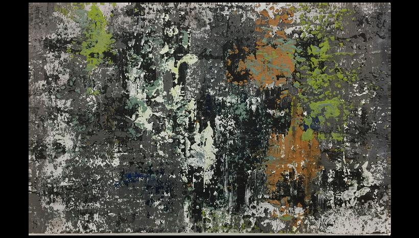 "OIL SLICK, 2015, Acrylic on panel, 48"" X 68"""