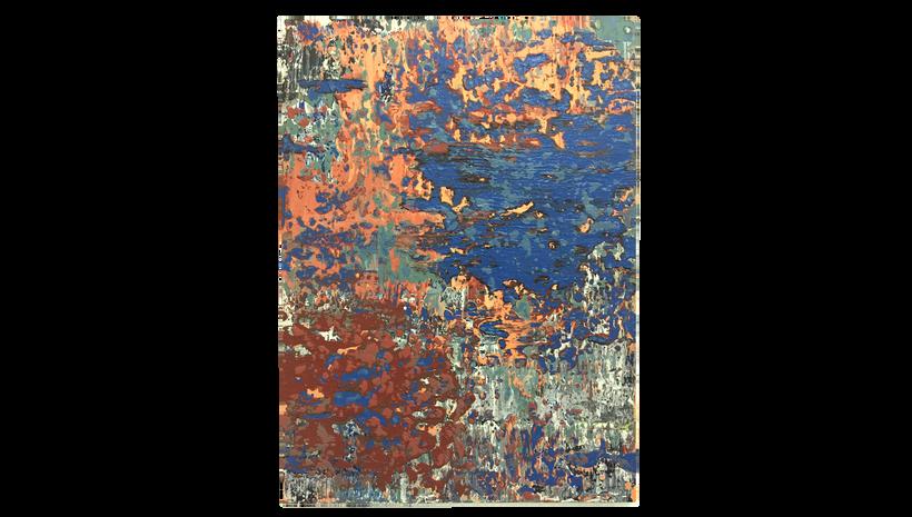 "JOURNEY, 2016, Acrylic on canvas, 48"" X 36"""