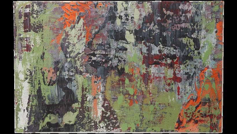 "FERUS, 2015, Acrylic on panel, 48"" X 68"""
