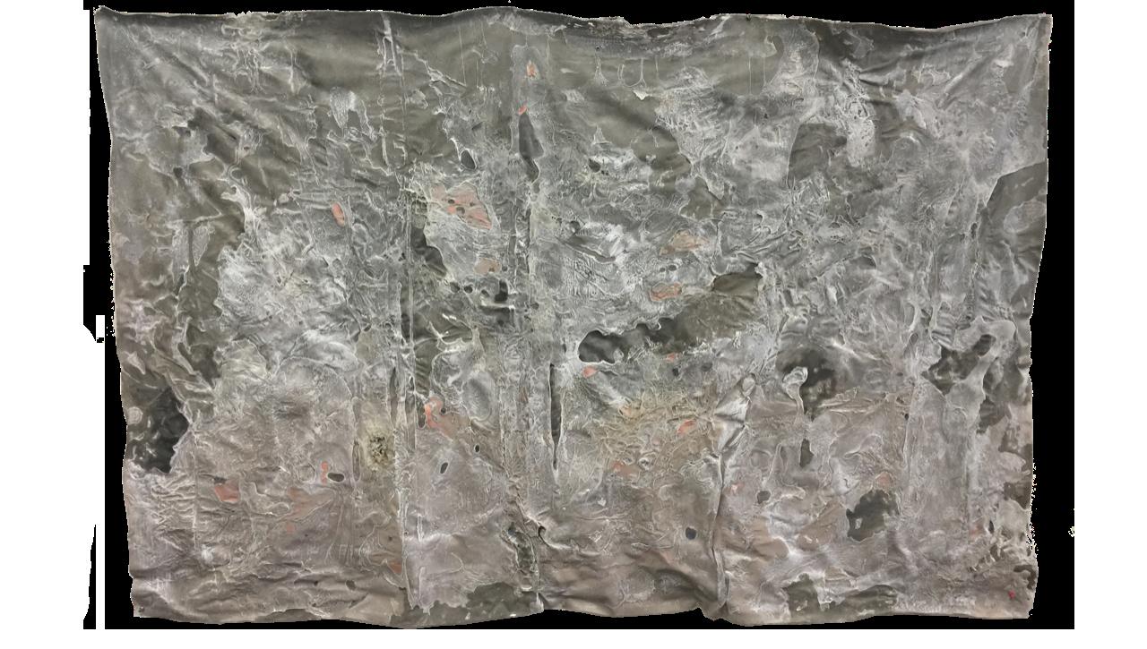 VEIL, 2019, Acrylic, enamel and adhesives on PVC