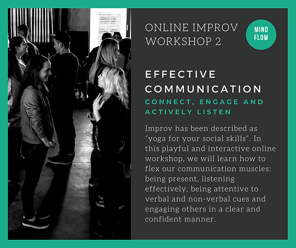 ONLINE IMPROV WORKSHOPS - EFFECTIVE COMM
