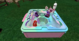 Qwibble, Stormy, Tea and Kaitlin Bath Tu