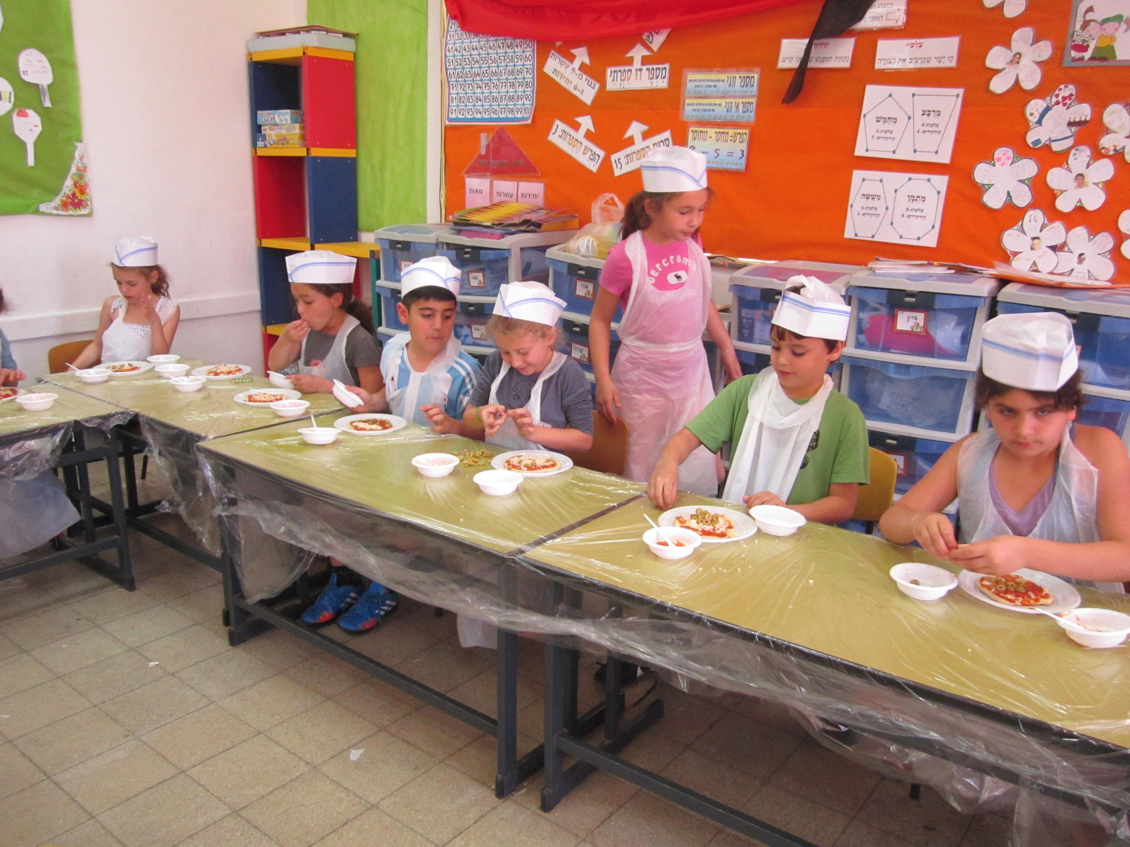 סדנה להכנת פיצות לילדים