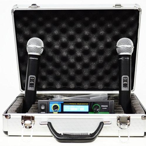 זוג מיקרופונים אלחוטיים להשכרה