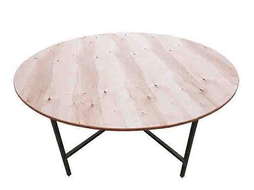 """שולחן עץ עגול בקוטר 160 ס""""מ להשכרה"""
