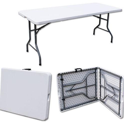 שולחן פלסטיק מתקפל בגודל 80*1.8 להשכרה