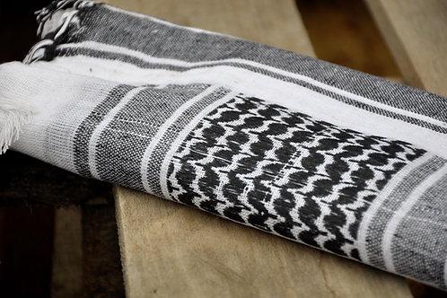 Šátek palestina béžovočerný