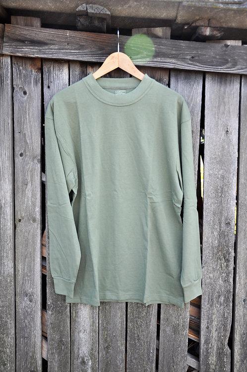 Tričko zelené dlouhý rukáv
