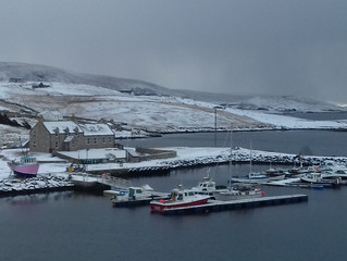 Snow gives way to spring in Shetland