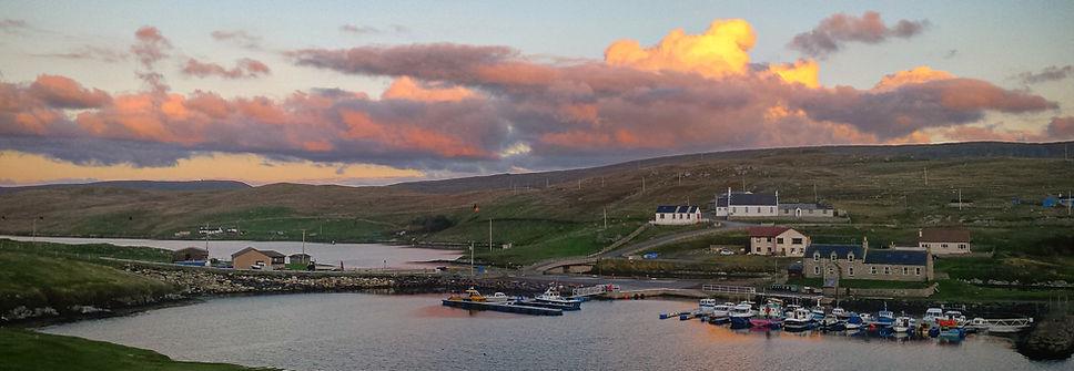 Bridge end shetland sunset