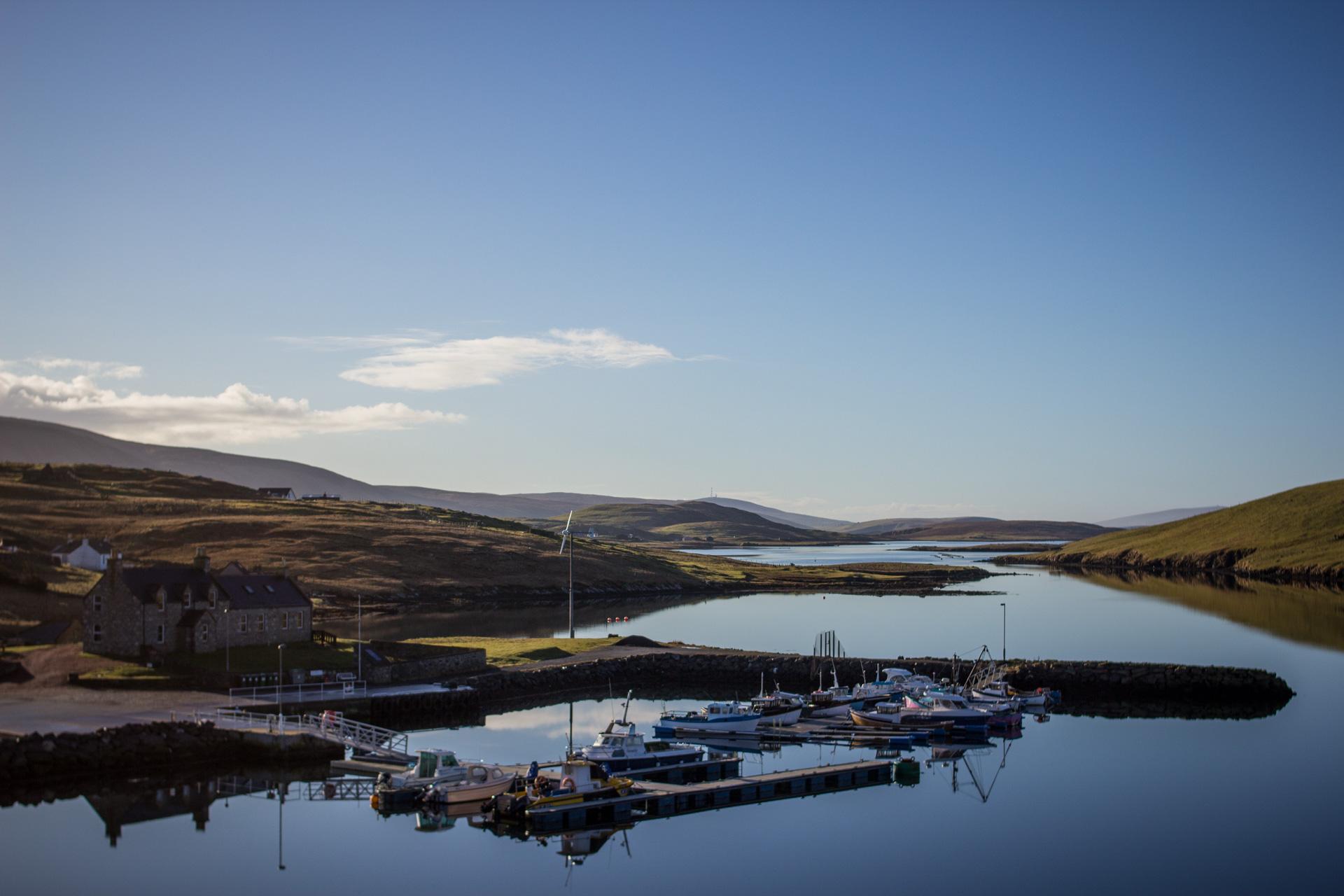 Caravan site Shetland