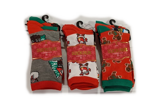 Ladies 2 Pack Holiday Socks