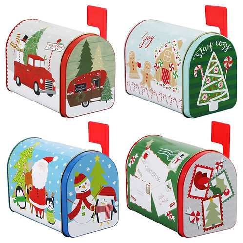 Holiday Mailbox Tin