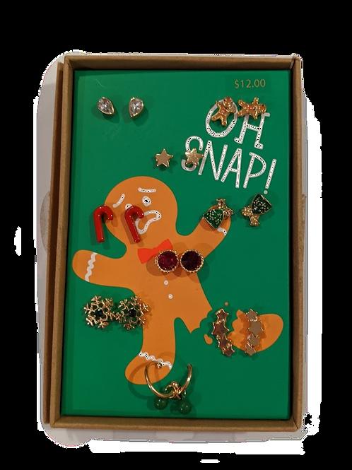 Gingerbread Earring Set