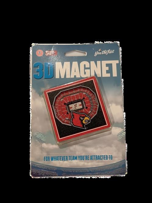 Louisville Cardinals 3D Magnet