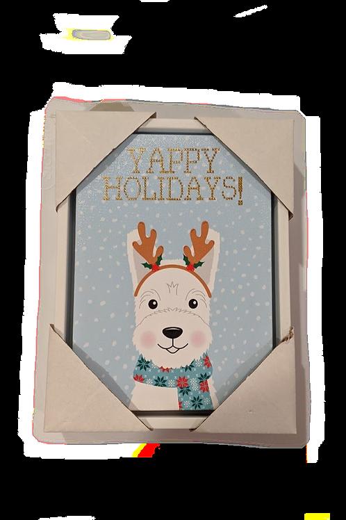 Yappy Holidays Canvas
