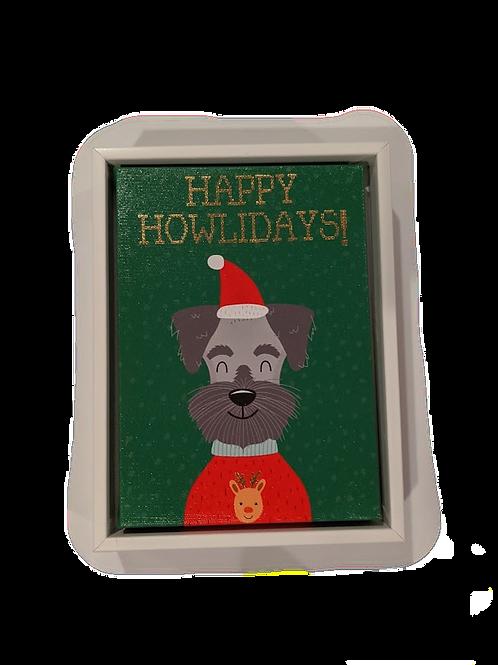 Happy Howlidays Canvas