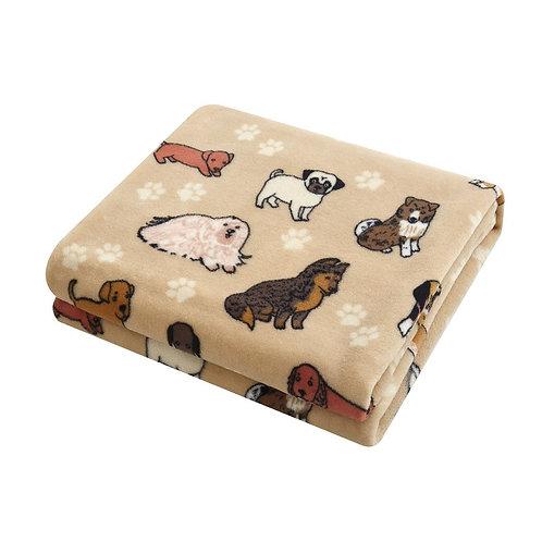 Plush Throw Blanket-Dog Themed