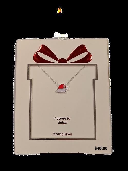 Santa Hat Necklace