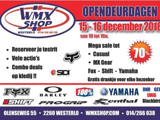 Wmx Shop Opendeur 15-16 December