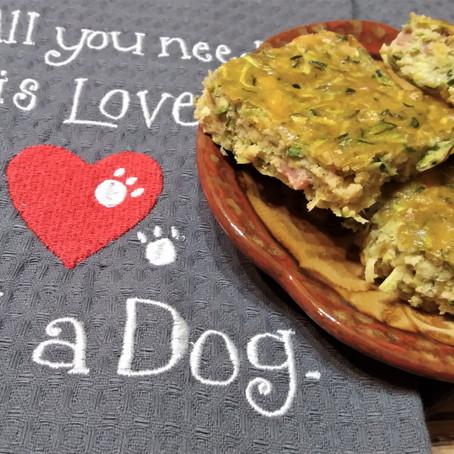 Zucchini Bacon Treats -Dogs treats