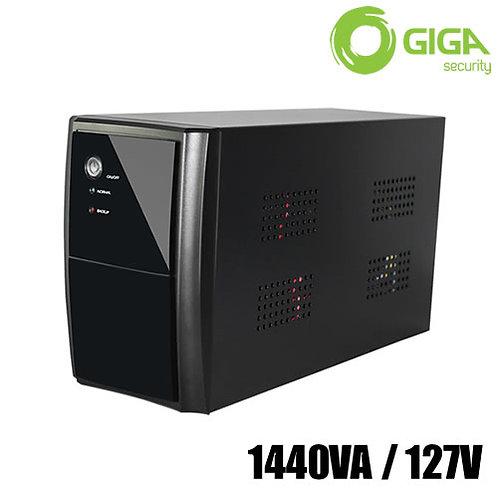 Nobreak UPS 1440VA/127VAC 8 Tomadas Alimentação p/ CFTV Giga Security
