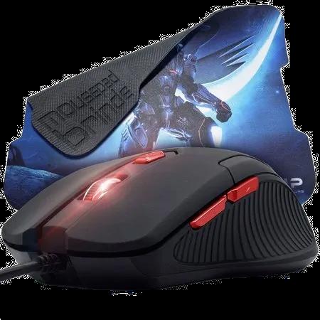 Mouse Gamer com mouse pad KP-V36