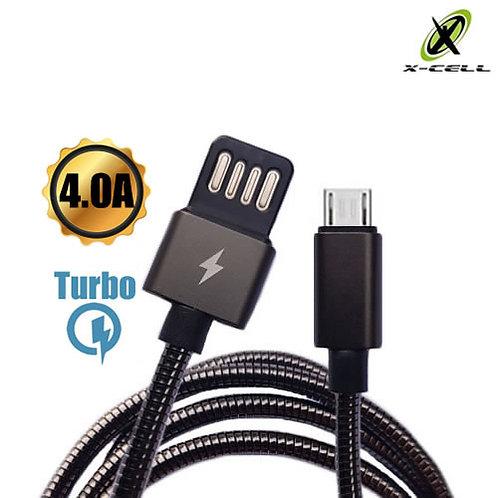 Cabo Blindado Inox Micro USB 4A Turbo