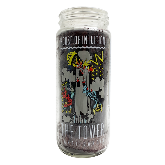 The Tower Tarot Intention Candle 殺你一個措手不及