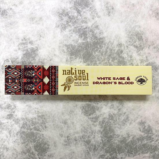 White Sage & Dragon's Blood Incense 白鼠尾草 & 龍血線香