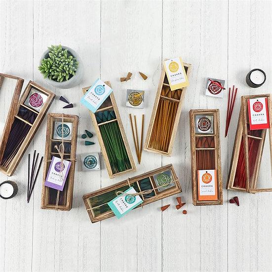 Chakra Wooden Incense Set 脈輪能量塔香+線香