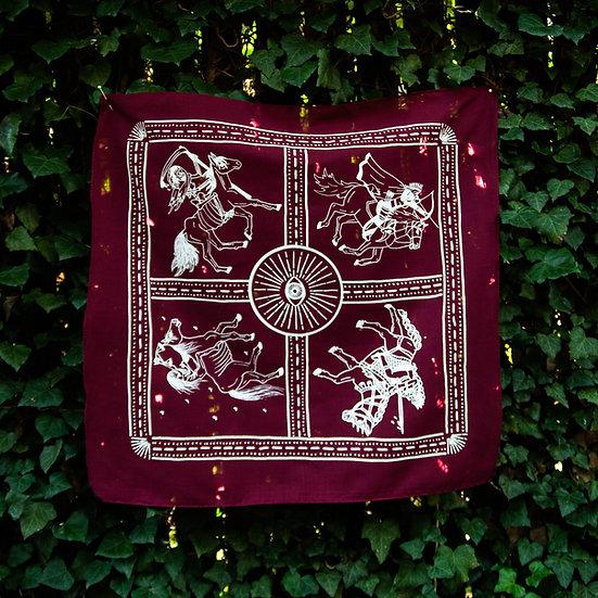 Four Horsewomen Altar Cloth 塔羅布