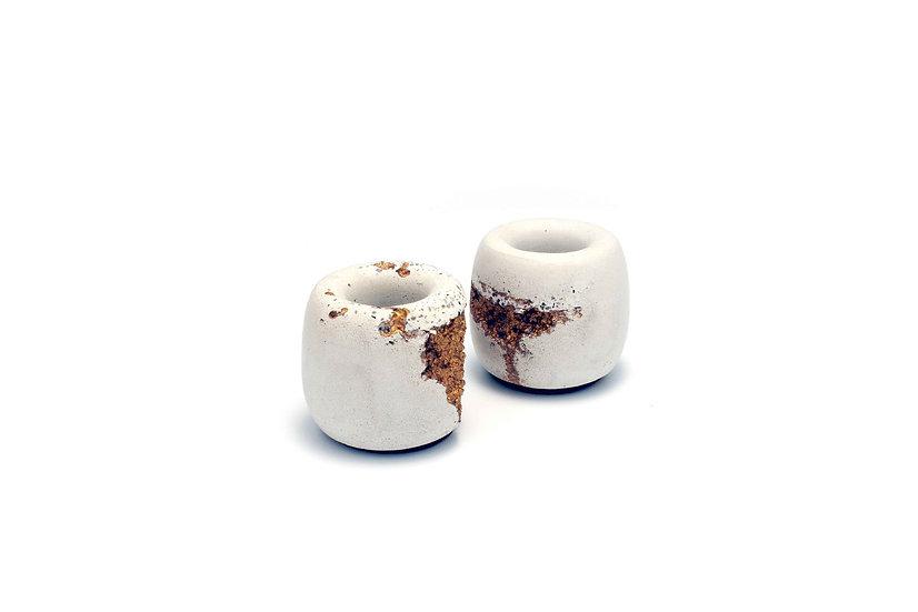 Concrete Palo Santo Holder - White & Gold 白金混凝土聖木座