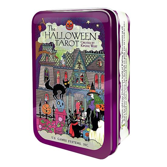 Halloween Tarot in a Tin 鐵罐塔羅牌