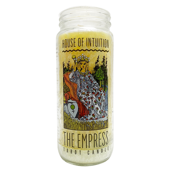 The Empress Tarot Intention Candle -  Call Me Queen Call Me Mami