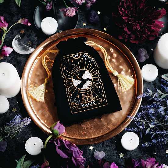 Magic Tarot Pouch - Black 塔羅袋