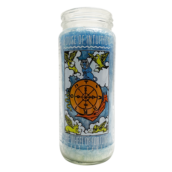 The Wheel of Fortune Tarot Intention Candle 華麗轉圈
