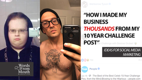 How I Made Thousands From My 10 Year Challenge Post