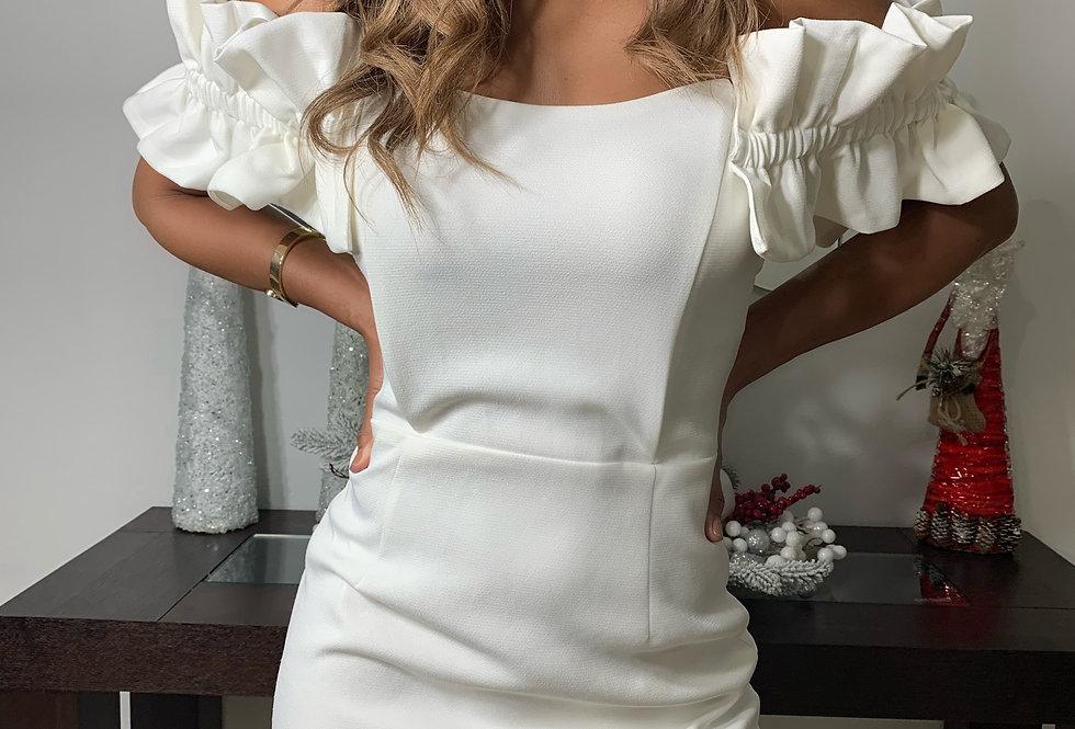 Off Shoulder Ruffle Mini Dress