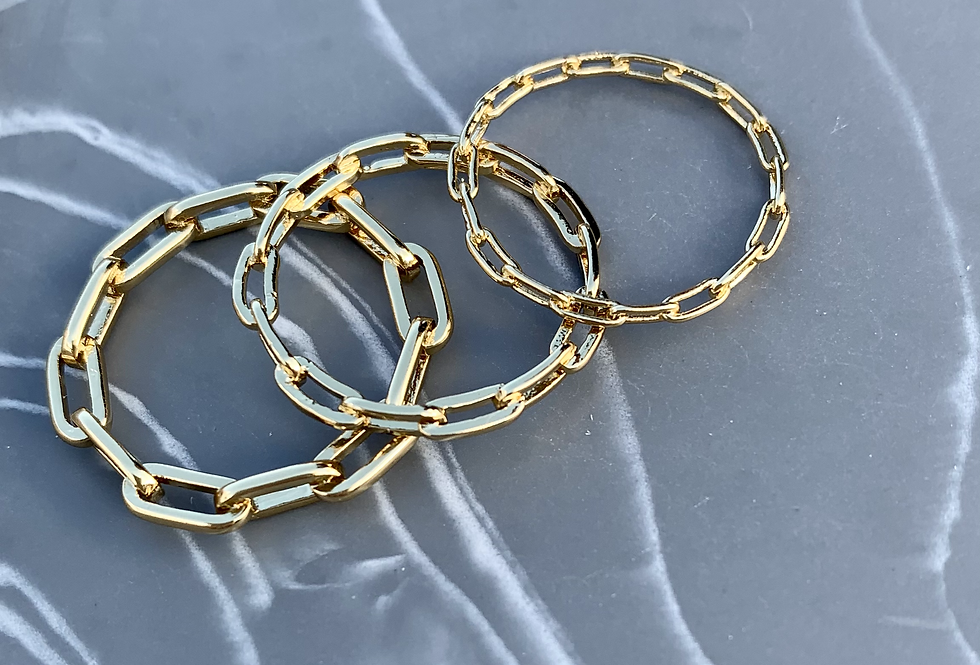 Cable Chain Link Ring Set