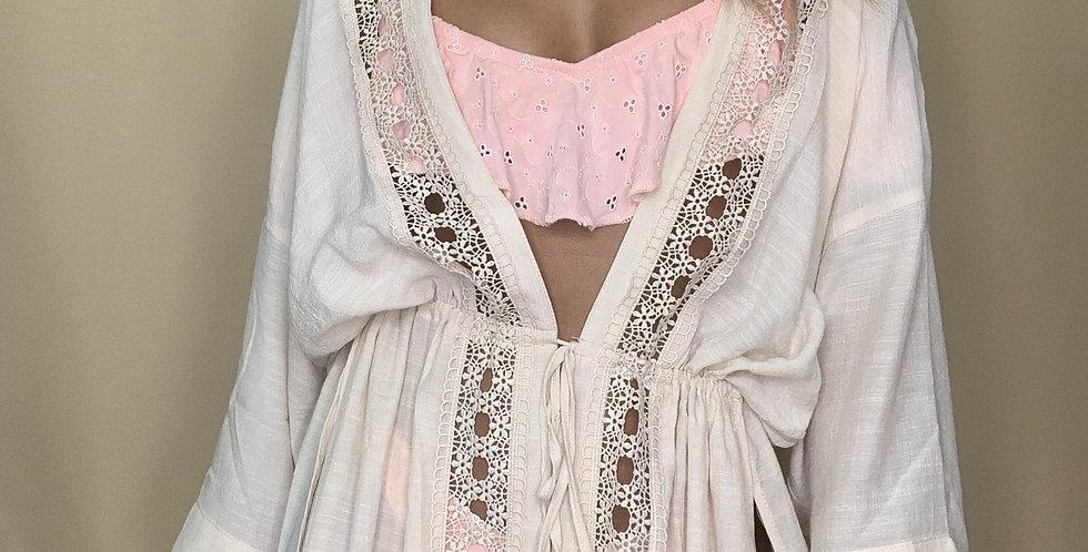 Always Summer Crochet Detail Kimono