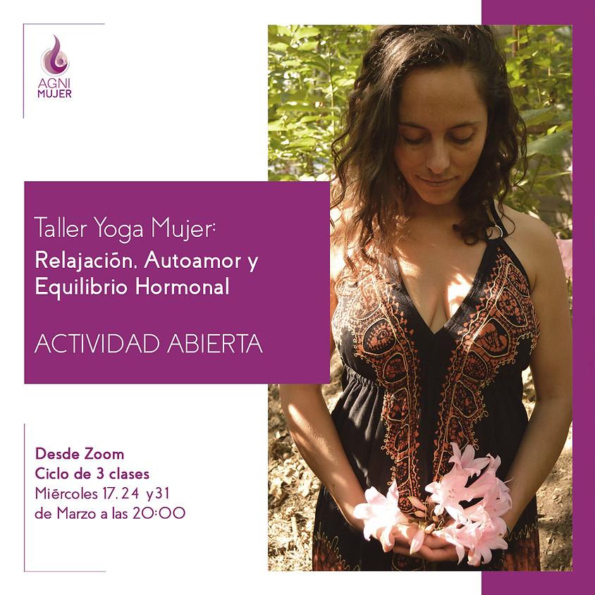 """Taller Online de Yoga Mujer """"Chandra"""" segunda sesión"""
