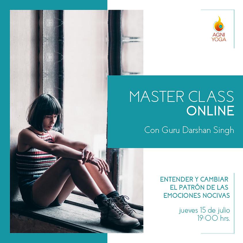 Master Class: Entender y cambiar el patrón de las emociones nocivas
