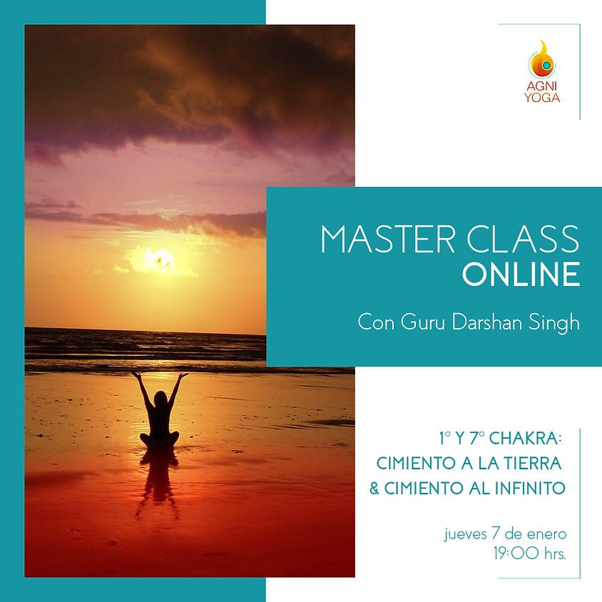 Master Class: 1° y 7° chakra: Cimiento a la tierra & Cieminto al infinito