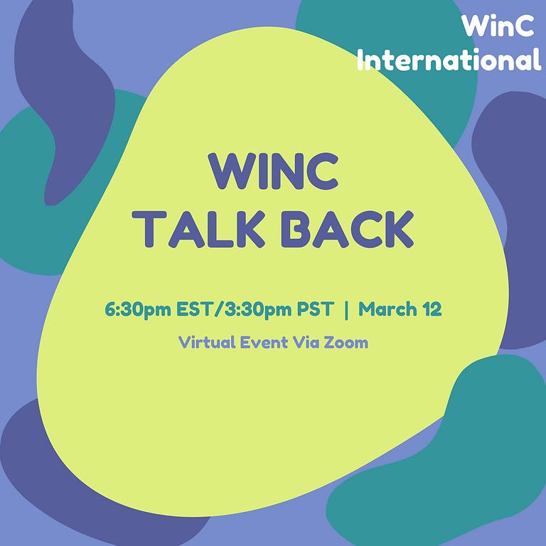 WinC Talk Back