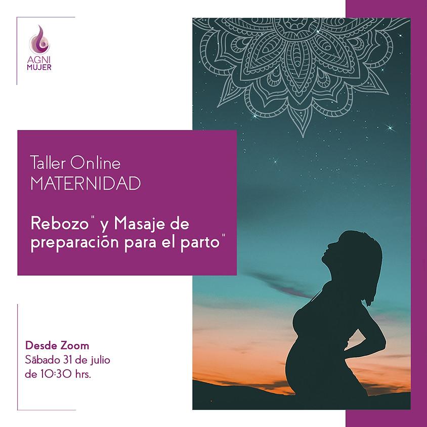 """Taller Online Maternidad: """"Rebozo"""" y Masaje de preparación para el parto"""