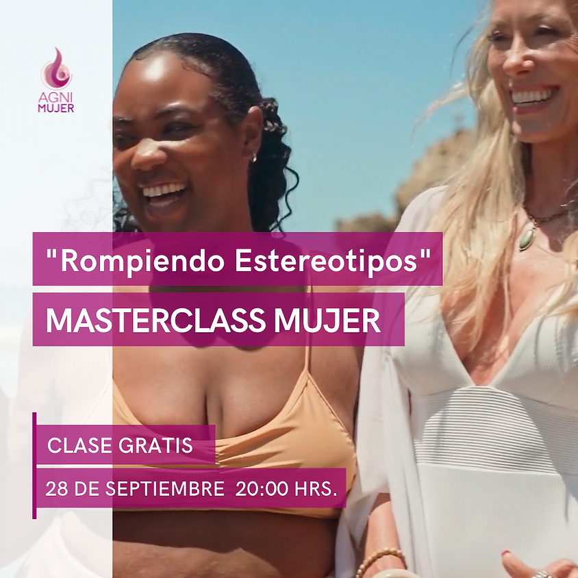 """Masterclass Gratuita de Yoga Mujer  """"Rompiendo Estereotipos"""""""
